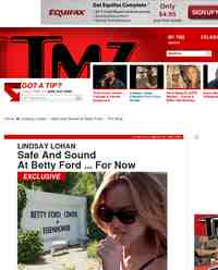 Lindsay Lohan Safe and Sound at Betty: TMZ.com